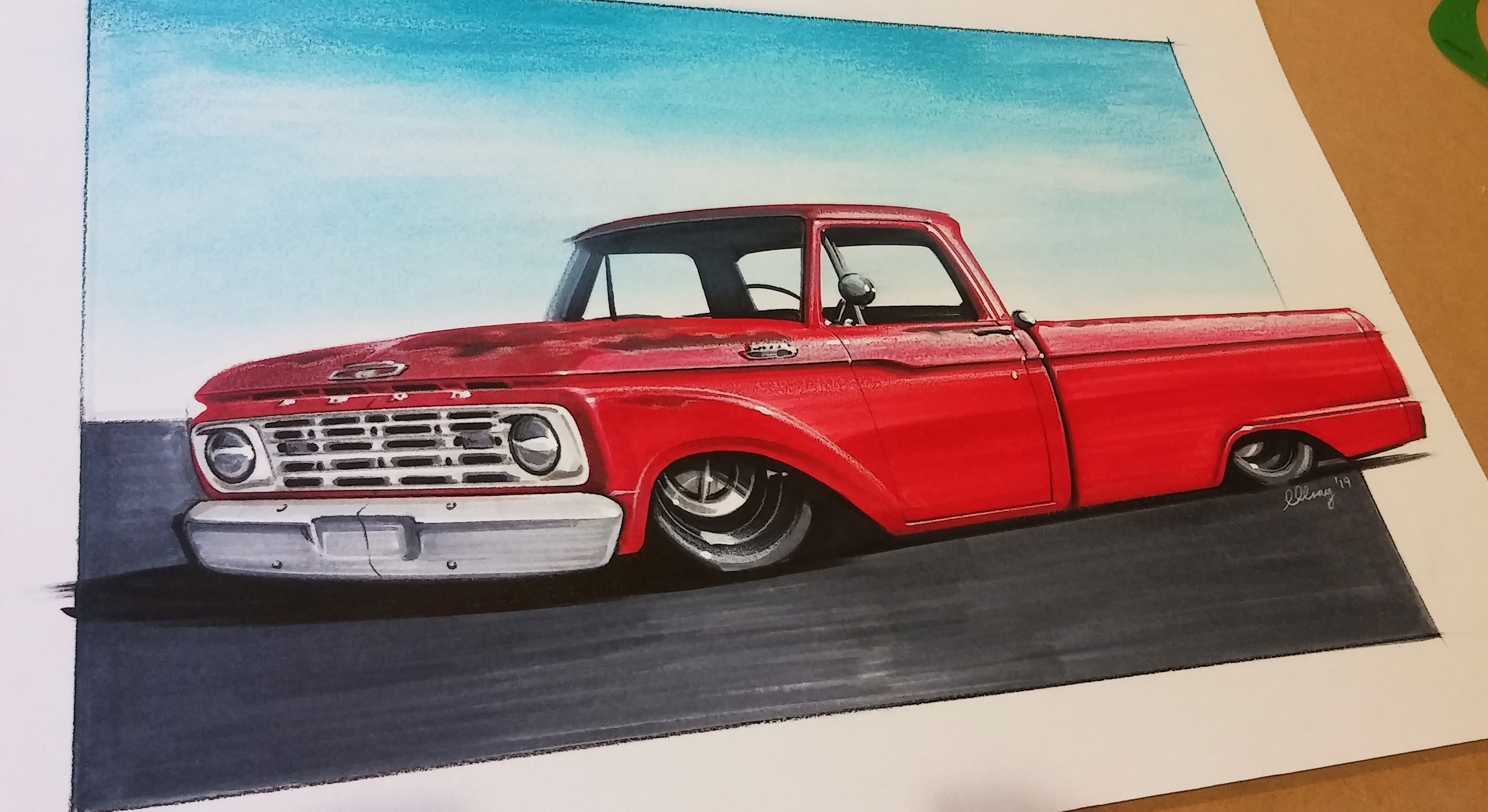 Car Artwork Ford F150 Custom Micks Speed Shop