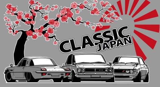 Design Graphic T Shirt Classic Japan Car Show